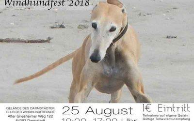 Vorankündigung: Windhundfest Darmstadt am 25. 8.2018